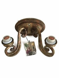 Minka Lavery Wall Mount Sconce Indoor Mcclintock Home Gilded Gold 2 Lights NEW