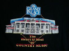Vintage The Grand Palace Country Music Double Collar 90's Black T Shirt L