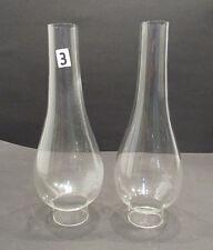 2 Glaszylinder / Glaskolben / Lampenglas / Petroleumlampe / Zylinder