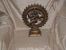 Antique/Vintage Shiva Nataraja Bronze Statue Hindu Chola Style Dancing 35cm