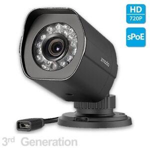 Zmodo SHO 720p sPoE Hd Outdoor Camera ZP-IBH15-S 3rd Gen female MicroUSB Funlux