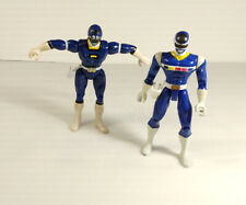 Power Rangers Blue Ranger lot of 2- Power Rangers in Space / Turbo - Bandai 1997