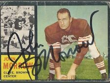Cleveland Browns JOHN MORROW Signed Card