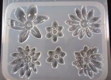 Resin Mold Flower Medallions 6 Counts Jewelry Pendant Earrings Chocolate Fondant