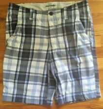 Abercrombie Shorts Boys  Kids Size 16 Blue and White Plaid Pockets