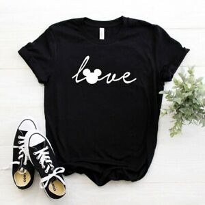 Mickey Love Signature Font ||  Unisex Tshirt || XS-XL & Kids ||