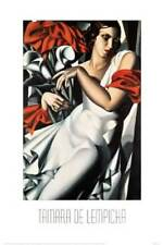 art print PORTRAIT GIRL IN WHITE DRESS 1930 Tamara De Lempicka Art Deco 24x36