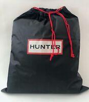 "Hunter New XL Large Black Nylon Storage Travel Dust Bag Drawstring 17"" x 20.75"""