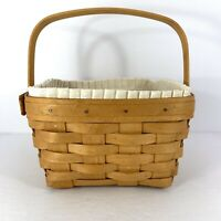 Longaberger 1996 Large Berry Basket with Liner & Protector