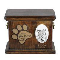 Berger de Beauce - Urna de cenizas de perro con placa de cerámica Art Dog ES