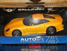 1/18 AutoArt  cheverolet corvette 1998 Calloway C12 Coupe pearl yellow