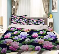 3D Farbe Lotus 705 Bett Kissenbezüge steppen Duvet Decken Set Single DE Carly