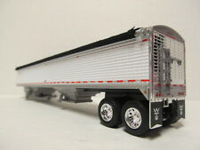 DCP 1/64 SCALE 50' WILSON GRAIN TRAILER  WHITE  (CUSTOM MADE INTO A TANDEM AXLE)