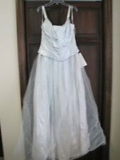 Jessica McClintock Gunne Sax pale blue princess dress prom gown 9 vintage NEW