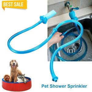 Pet Shower Connector Wash Hose Attachment Sprinkler Handheld Rinser Dogs Bathing