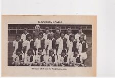 Team Pic from 1975-76 FOOTBALL Annual - BLACKBURN ROVERS + MANCHESTER UNITED