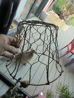 Ancienne Muselière de Veau à Transformer Lustre Abat Jour de Lampe Indus Atelier