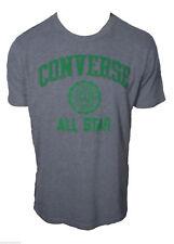 T-shirt Converse All star Maglietta Manica Corta 100%Cotone Grigio Uomo Taglia L