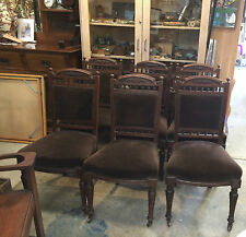 Set of 6 Antique Edwardian Dining Chairs
