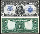 BEAUTIFUL 1899 $5 SILVER CERTIFICATE INDIAN CHIEF COPY PLEASE READ DESCRIPTION!