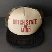 Dutch Bros Snapback Trucker Hat State of Mind Camouflage Mesh Cap Adjustable