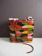 Tory Burch Farrah Snake Patchwork Shoulder Handbag Tote