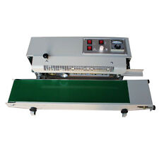 New listing 110V Continuous Bag Sealing Machine Band Sealer Seal Width 6-12mm Free shipping