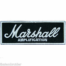 Marshall Amplification Guitar Bass Rock Punk Metal Speakers Iron on Patch #E008