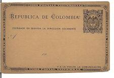 COLOMBIA, Old Postal Stationery 2C, UNUSED, 1800's ?