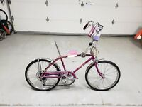 1967 SCHWINN STINGRAY FASTBACK 5 SPEED VIOLET BIKE 1 OWNER VERY NICE SHAPE L$$K