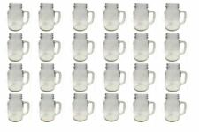 Set of 24 Mason Glass Drinking Jars with Handles without Lids 20oz 1 pint 568ml
