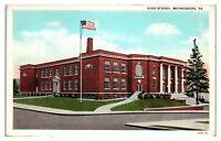 Early 1900s High School, Waynesburg, PA Postcard