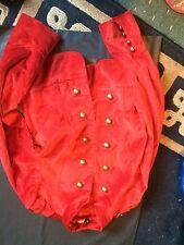 Orange Foncé Steampunk Style Veste De Velours Taille 12