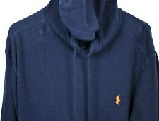 POLO RALPH LAUREN Hoodie Sweatshirt All Cotton Navy Front Pouch XXL