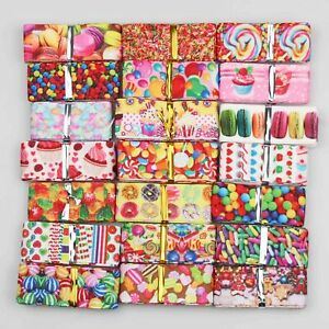 """7/8"""" Grosgrain Ribbon Printed Candy Cake Ribbons Mixed lots 10 Pieces 22mm"""