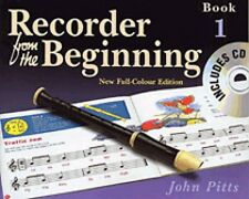 Recorder from the Beginning Book 1 Full Color Edition Book and Cd New 014027194