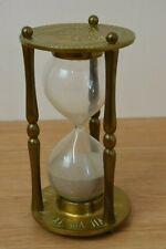 Large Vintage Brass Hour Glass Sand Timer Astrology Zodiac 23cm tall