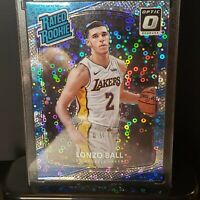 2017-18 Panini Optic Lonzo Ball Fast Break Prizm Rookie Disco RC Pelicans Lakers