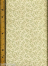Madeira Quilt Quilting Fabric by half yard 2604 14 green cream leaves Moda