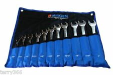 """BERGEN 11pc IMPERIAL COMBINATION SPANNER SET AF/SAE WRENCHES 3/8 - 1"""" B1853"""