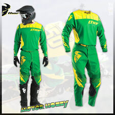 COMPLETO MOTOCROSS ENDURO THOR CORE CONTRO GREEN YELLOW 2016 TAGLIA M - 30