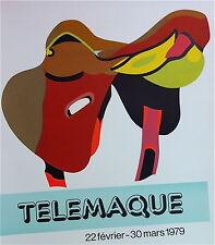 Hervé télémaque Affiche lithographie originale figuration narrative Monory