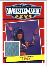 WWE Layla 2012 Topps Heritage WrestleMania 27 Event Used Mat Relic Card