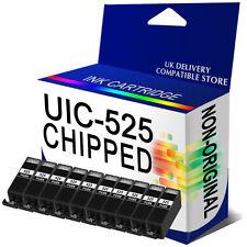 10 Black Chipped Ink Cartridge for MG5320 MG5350 MG6150 MG6220 MG6250 PGI525