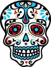 "Flowers Skull Car Bumper Sticker Decal 4"" x 5"""