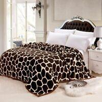 Coffee Throws Blanket Stone Printed Fleece Fabric 150x200cm 180x200cm 200x230cm