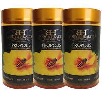 Body & Health Propolis 1000mg 365 Capsules x 3 Units