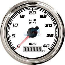 KUS Marine Car Truck Tachometer Boat Motor Digital Hourmeter 12/24V 0-4000 RPM