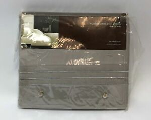 Hudson Park Collection 800 Thread Count King Flat Sheet Gray 78 x 80 x inch