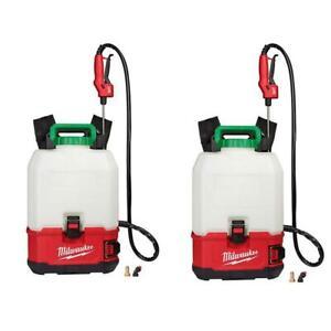Pesticide Sprayer Kit Set 18-V 4 Gal. Cordless Switch Tank Backpack (2-Tool)
